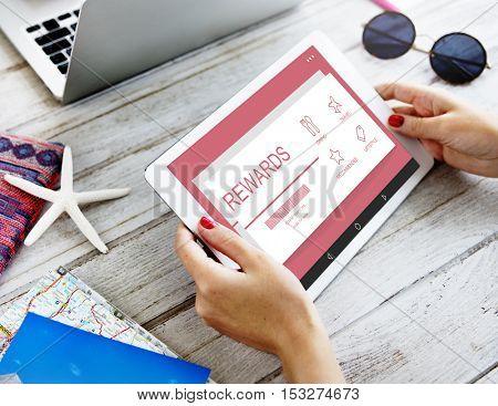 Rewards Voucher Gift Certificate Discount Concept