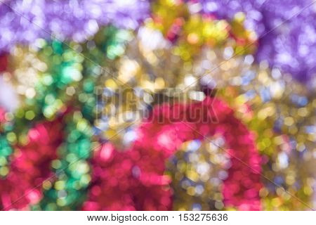 Happy new year celebration background multicolored bokeh light