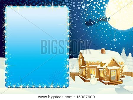 Christmas poster with copy space - version vector at portfolio