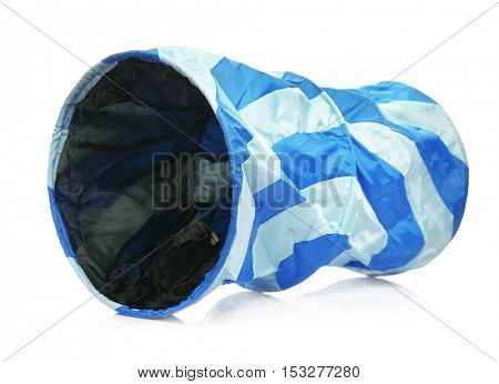 Pet tunnel on white background