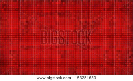 Red mosaic background with effect,  Azure Mosaic grunge background,  Squares Of Light And Dark Red, Red shapes of mosaic style