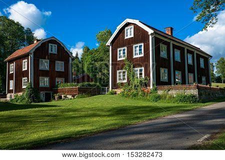 Nice summer view of 300 year old Swedish homestead