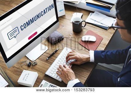 Customer Mobile Communication Speech Bubble Concept