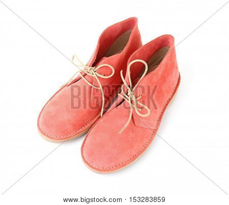 Pink shoes, isolated on white