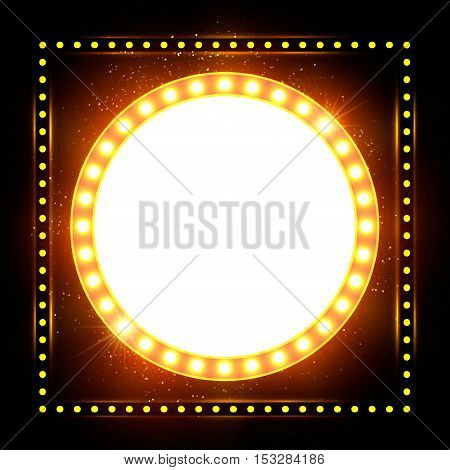 Abstract Shining Retro Light Banner