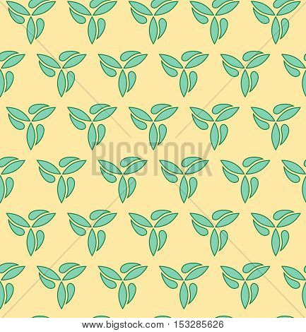 Seamless vector yellow and green ornament. Modern geometric pattern with repeating elements