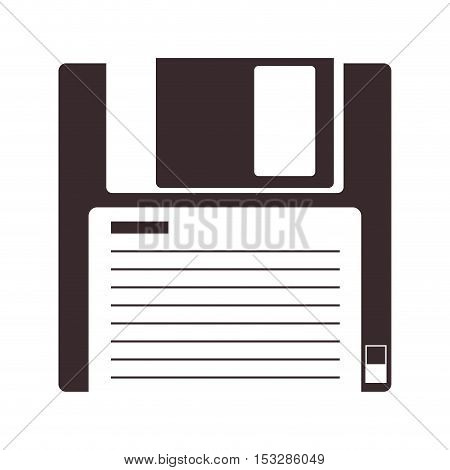 data diskette device icon over white background. vector illustration