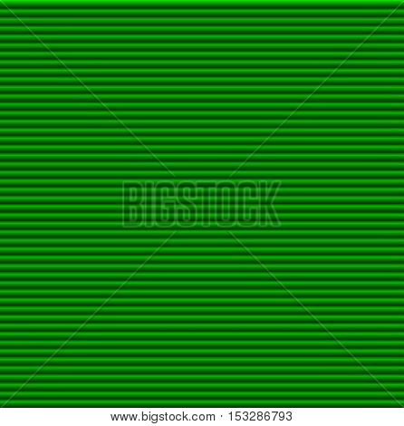 Pattern texture of crumpled paper in the volume of horizontal lines for notes. Can be used for wallpaper, pattern fills, web page background, surface textures. Green galousie.