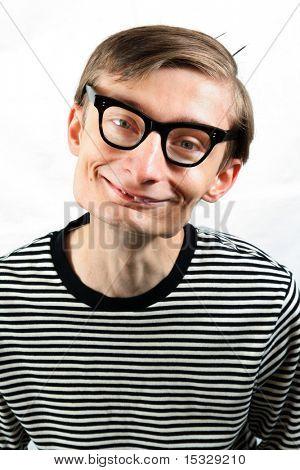 Cute smiling nerd