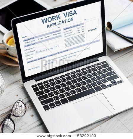 Work Visa Application Law Legal Concept