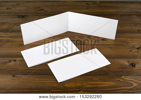 Identity design. Corporate templates. Company style. Bank white folding paper flyer