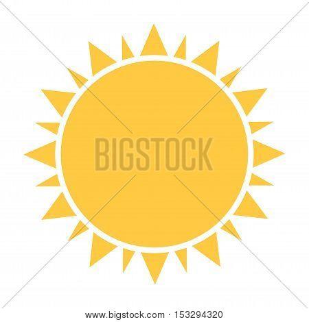 Flat design sun icon or symbol illustration