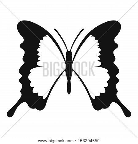 Swallowtail butterfly icon. Simple illustration of swallowtail butterfly vector icon for web