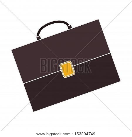 business briefcase accessory over white background. vector illustration