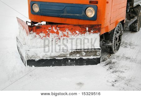 Snowplow closeup