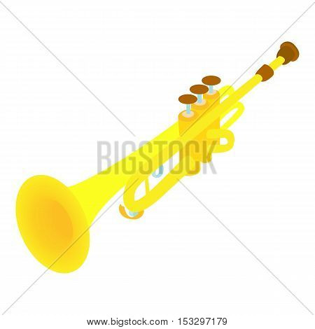 Trumpet icon. Cartoon illustration of trumpet vector icon for web