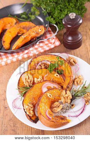roast pumpkin slice