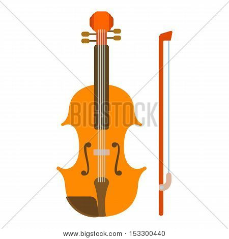 Contrabass icon. Flat illustration of contrabass vector icon for web