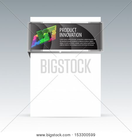 banner design booklet for demonstration of the goods. Vector template