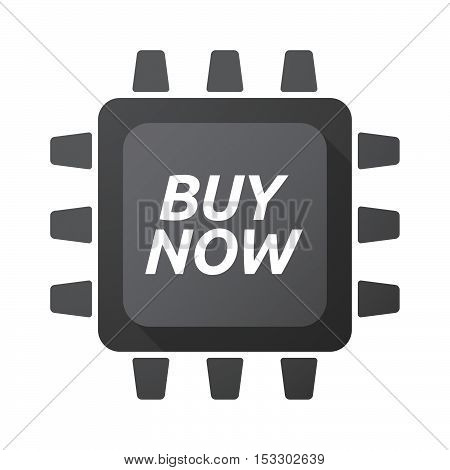 Isolated Central Processing Unit Icon With    The Text Buy Now