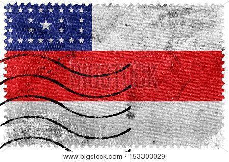 Flag Of Amazonas State, Brazil, Old Postage Stamp