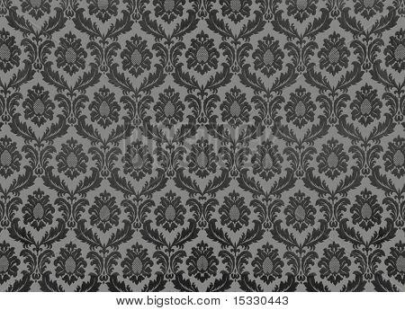 Swirly floral-papel de parede retrô