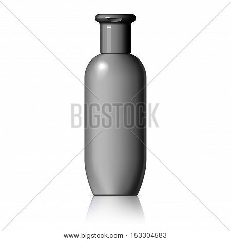 Cosmetic products on a white background. Cosmetic package for cream soups foams shampoo Spray Deodorant. vector illustration