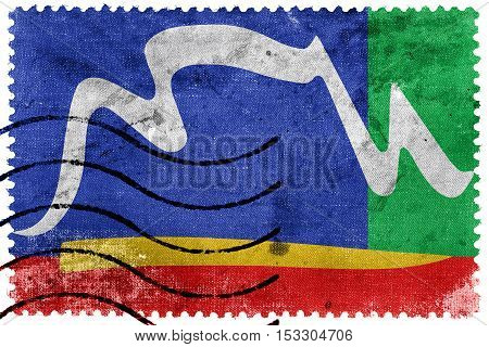 Flag Of Cape Town, South Africa, Old Postage Stamp