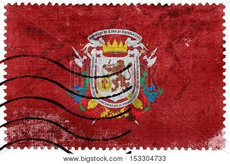Flag Of Caracas, Venezuela, Old Postage Stamp