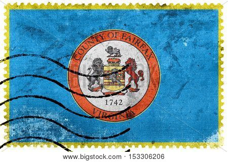 Flag Of Fairfax County, Virginia, Usa, Old Postage Stamp