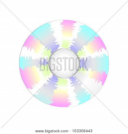 Vector CD on white background - illustration