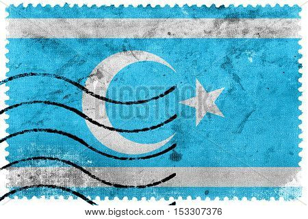 Flag Of Iraqi Turkmen Front, Old Postage Stamp