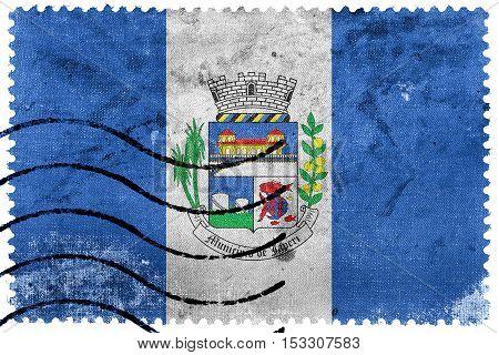 Flag Of Japeri, Rio De Janeiro State, Brazil, Old Postage Stamp