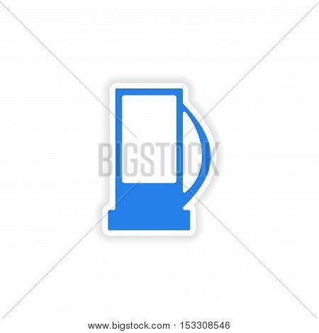 icon sticker realistic design on paper refill