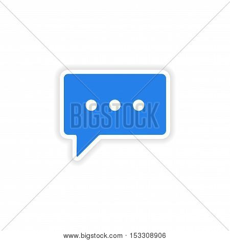 icon sticker realistic design on paper thinking cloud