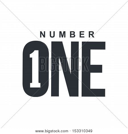 Black and white number one diagonal logo template, vector illustrations isolated on white background. Graphic logo with diagonal logo with three dimensional number one
