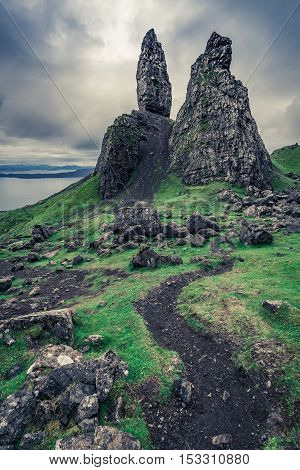 Winding Footpath To Old Man Of Storr, Scotland