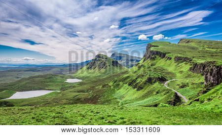 Breathtaking View From Quiraing In Isle Of Skye, Scotland, United Kingdom