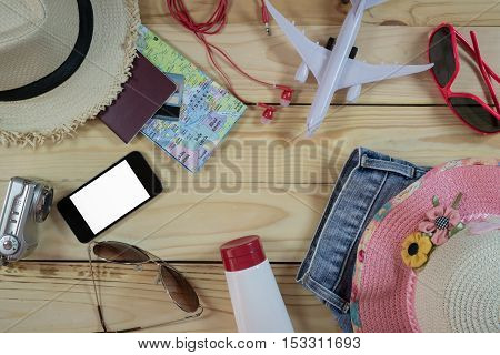 Travel Concept With Accessory And Costumes