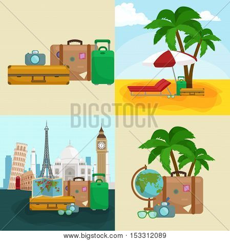 Travel concept. Travel bag. Travel passport. Travel camera. Travel ticket. Travel airplane. Travel Isometric Travel flat. Travel 3d. Travel vector. Travel illustration. Travel insurance Travel luxury