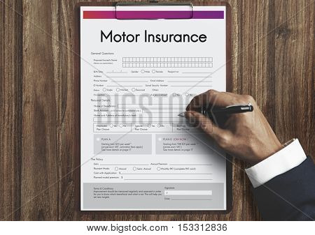 Motor Insurance Vehicle Form Concept
