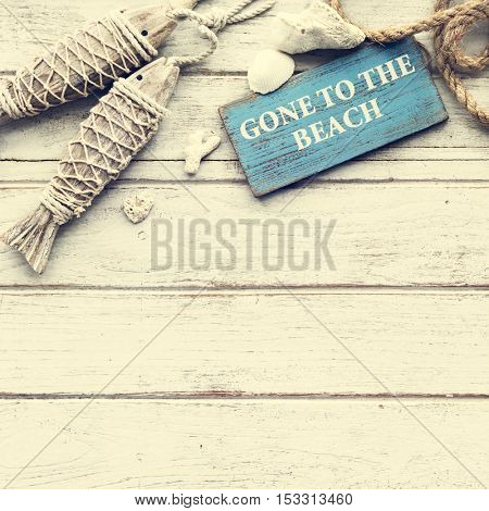 Gone to the Beach Summer Holiday Vacation Concept