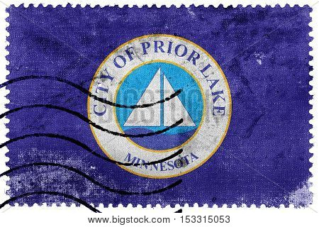 Flag Of Prior Lake, Minnesota, Usa, Old Postage Stamp