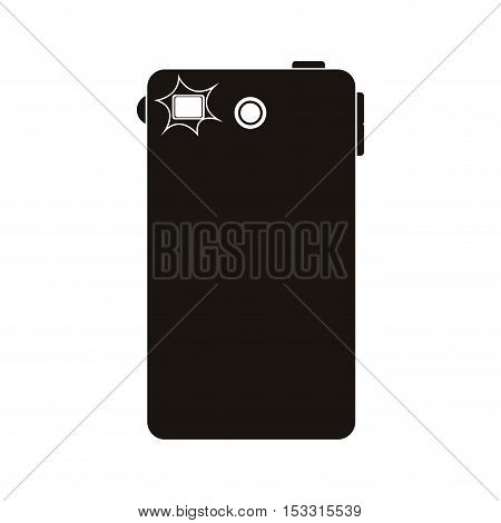smartphone portable device back view over white background. vector illustration