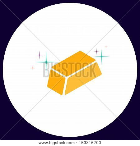 gold bars Simple vector button. Illustration symbol. Color flat icon
