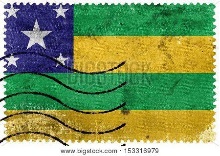 Flag Of Sergipe State, Brazil, Old Postage Stamp