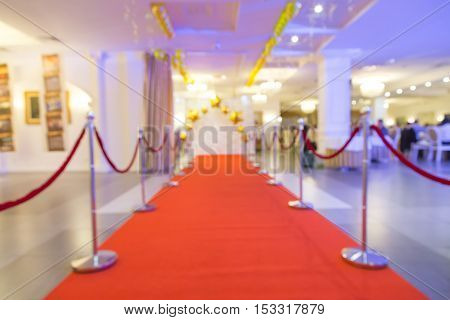 red carpet with the sides blurred background