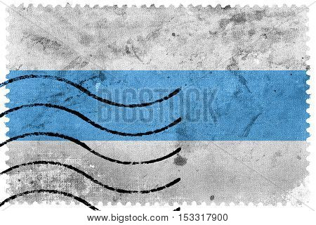 Flag Of Tucuman Province, Argentina, Old Postage Stamp
