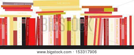 Bookshelves with books. Vector illustration n flat style