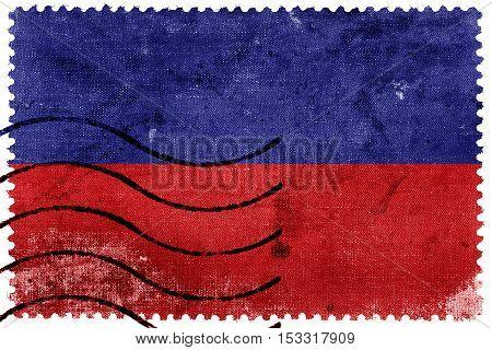 Flag Of Tulcan, Ecuador, Old Postage Stamp